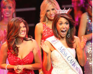 Noelle Freeman crowned Miss California.