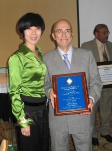 Dr. Susan Yang and Dean Menas Kafatos