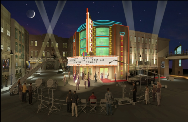 Artist's rendering of planned Millenial Studios, where Dhont Family Foundation Documentary Film Center will be housed.